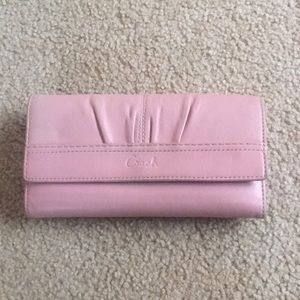 Coach wallet with checkbook
